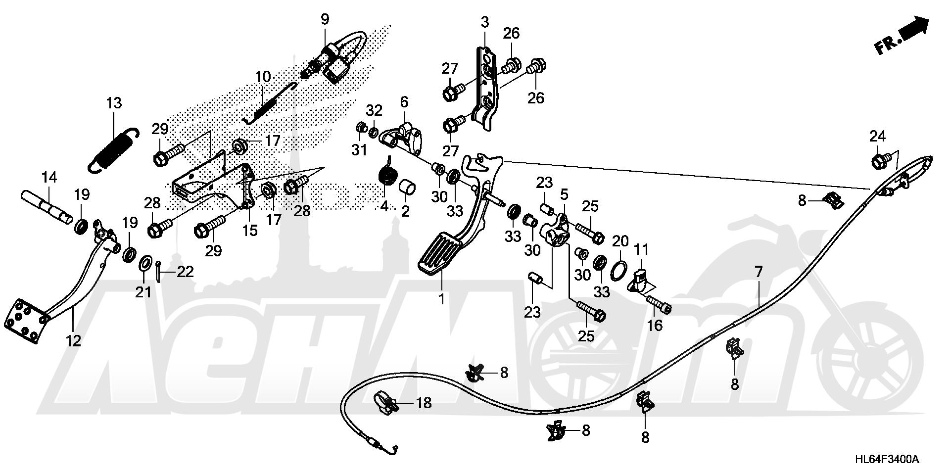 Запчасти для Квадроцикла Honda 2019 SXS1000S2X Раздел: PEDAL | педаль