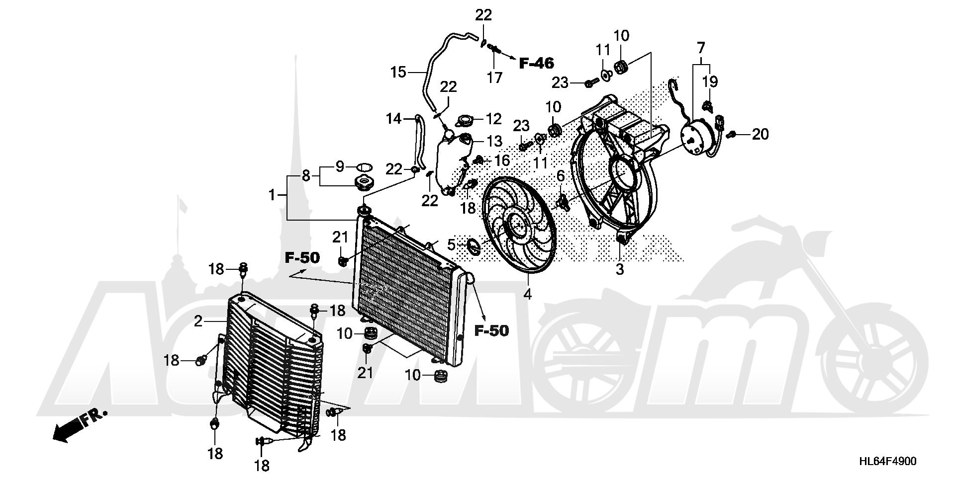 Запчасти для Квадроцикла Honda 2019 SXS1000S2X Раздел: RADIATOR | радиатор
