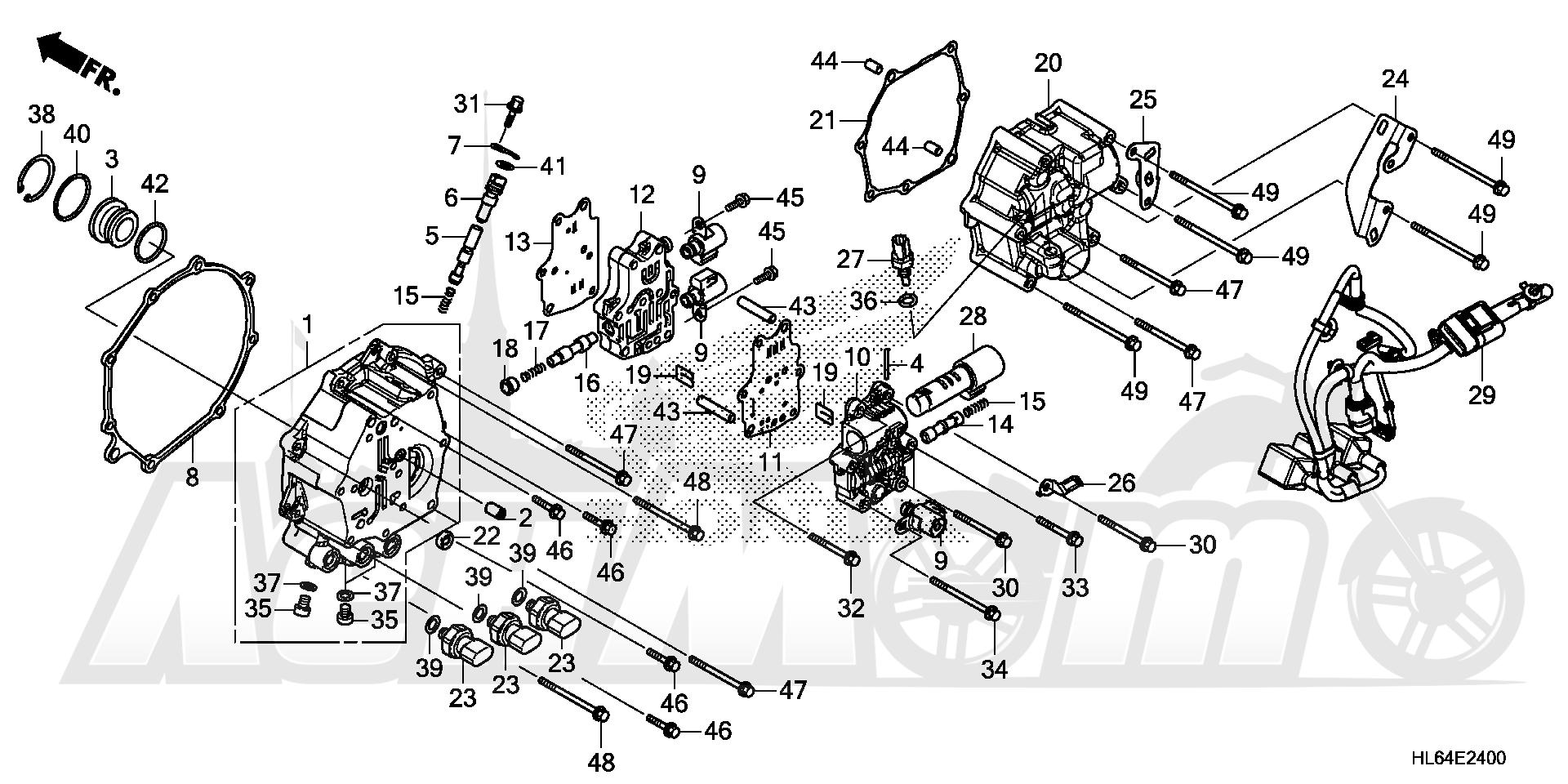 Запчасти для Квадроцикла Honda 2019 SXS1000S2X Раздел: SOLENOID VALVE | реле, соленоид клапан