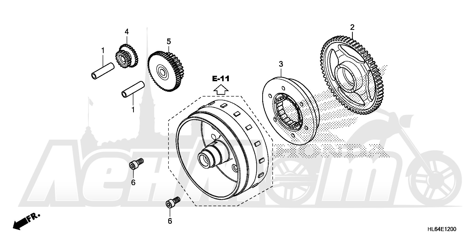 Запчасти для Квадроцикла Honda 2019 SXS1000S2X Раздел: STARTING CLUTCH   запуск сцепление