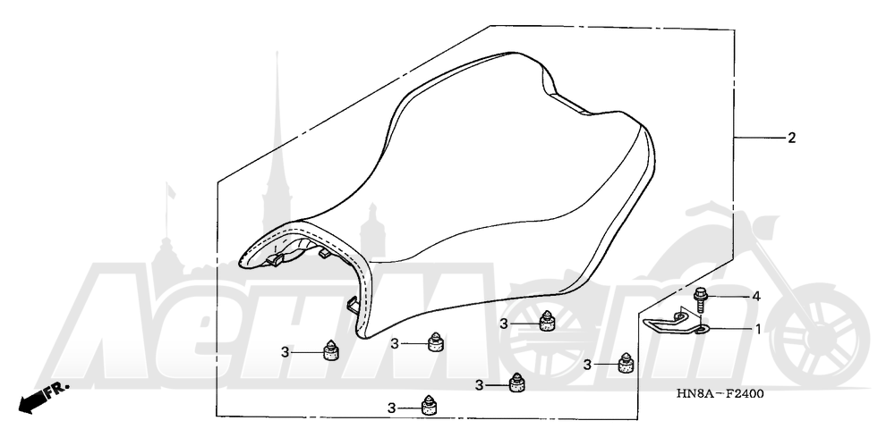 Запчасти для Квадроцикла Honda 2008 TRX680FA Раздел: SEAT | сиденье