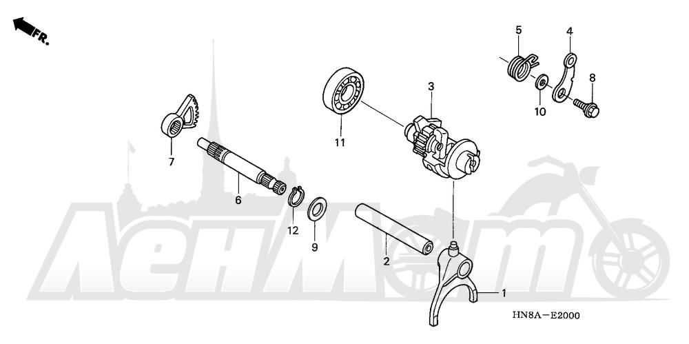 Запчасти для Квадроцикла Honda 2008 TRX680FA Раздел: GEARSHIFT FORK | переключение передач вилка