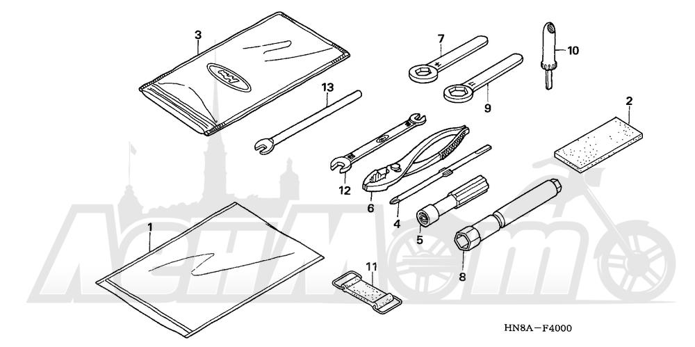 Запчасти для Квадроцикла Honda 2008 TRX680FA Раздел: TOOLS | интструменты