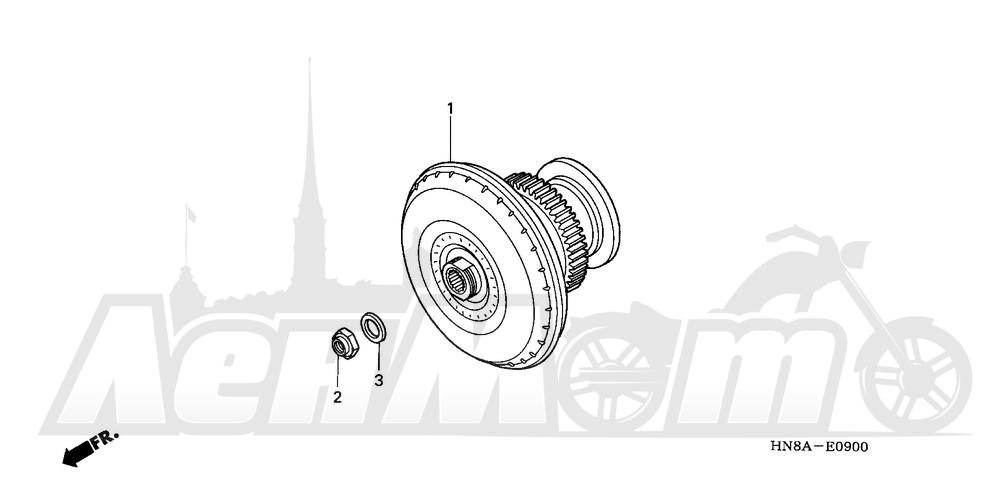 Запчасти для Квадроцикла Honda 2008 TRX680FA Раздел: TORQUE CONVERTER | крутящий момент конвертер