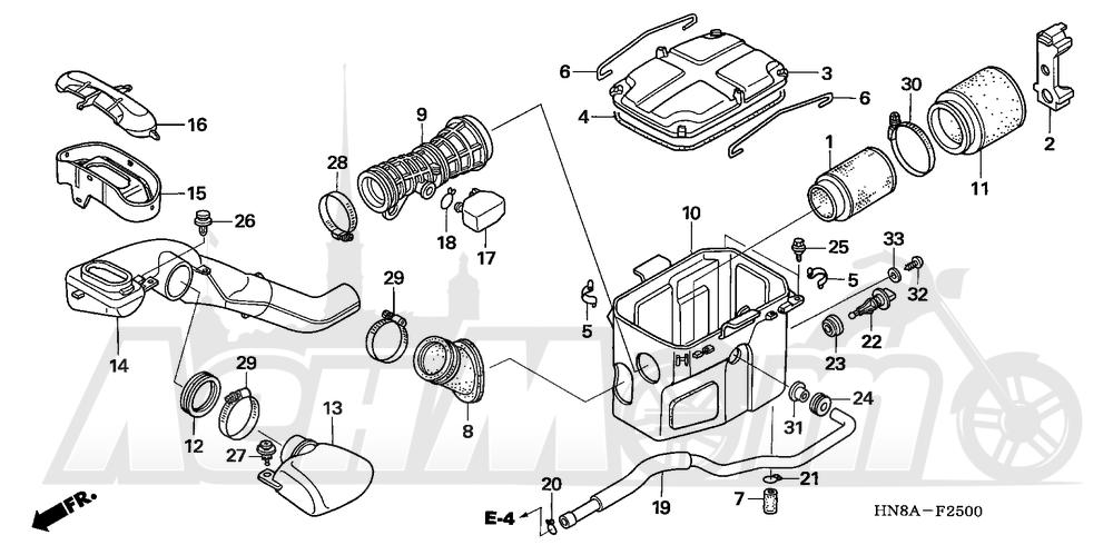 Запчасти для Квадроцикла Honda 2008 TRX680FGA Раздел: AIR CLEANER | очиститель воздуха