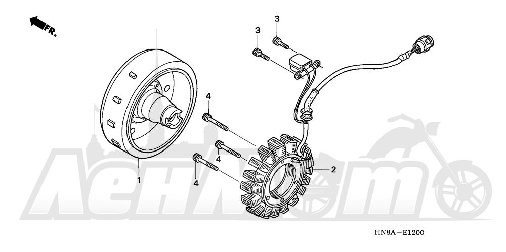 Запчасти для Квадроцикла Honda 2008 TRX680FGA Раздел: ALTERNATOR | генератор