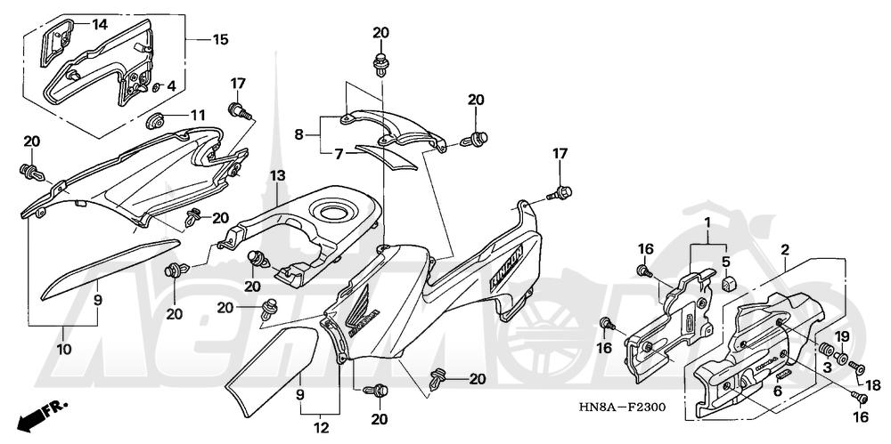 Запчасти для Квадроцикла Honda 2008 TRX680FGA Раздел: BODY COVER | корпус крышка