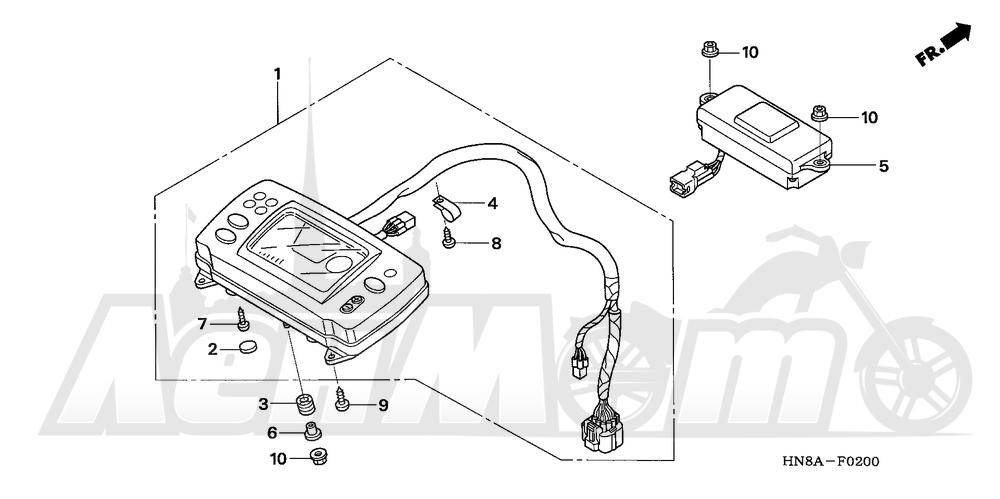 Запчасти для Квадроцикла Honda 2008 TRX680FGA Раздел: METER   счетчик