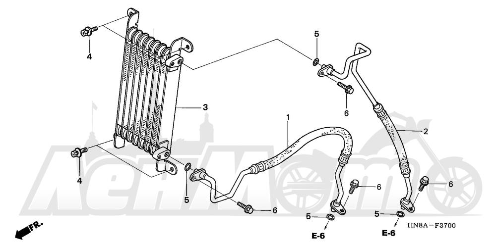 Запчасти для Квадроцикла Honda 2008 TRX680FGA Раздел: OIL COOLER | маслянный радиатор