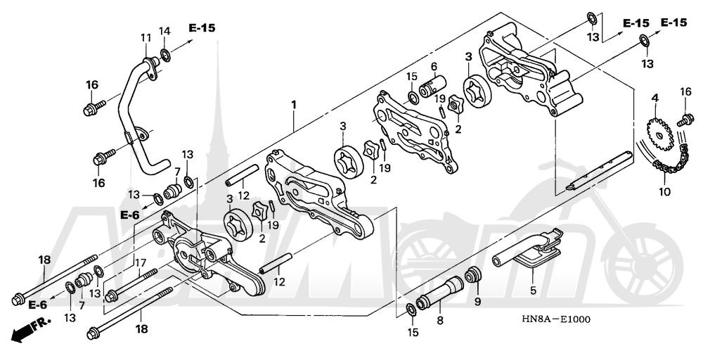 Запчасти для Квадроцикла Honda 2008 TRX680FGA Раздел: OIL PUMP   маслянный насос