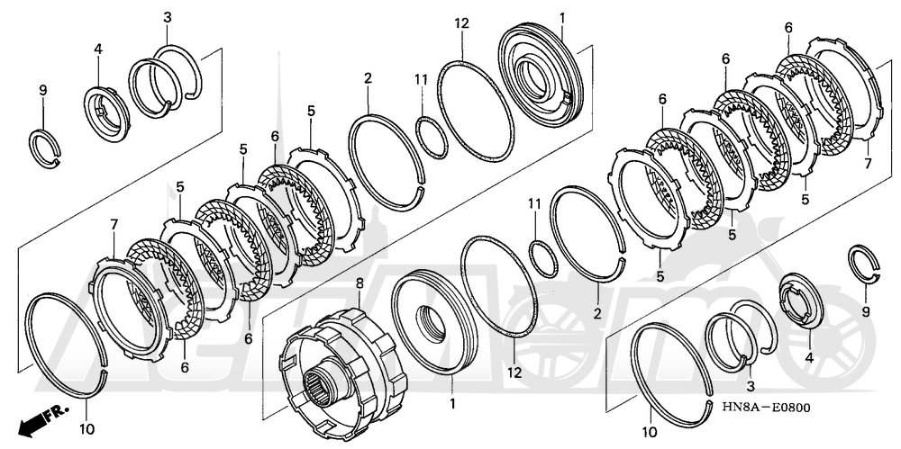 Запчасти для Квадроцикла Honda 2008 TRX680FGA Раздел: CLUTCH (2-3) | сцепление (2 3)