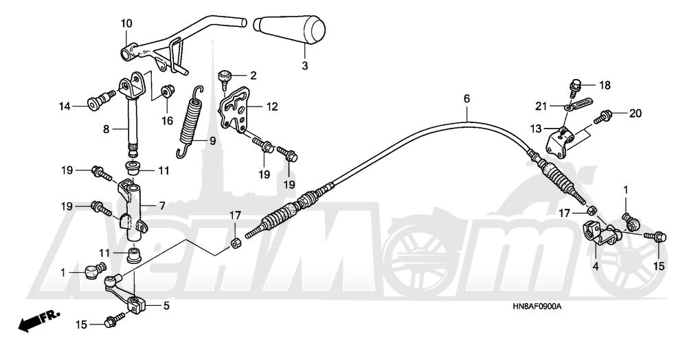 Запчасти для Квадроцикла Honda 2008 TRX680FGA Раздел: SELECT LEVER | SELECT рычаг
