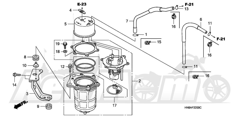 Запчасти для Квадроцикла Honda 2008 TRX680FGA Раздел: FUEL PUMP | топливный насос