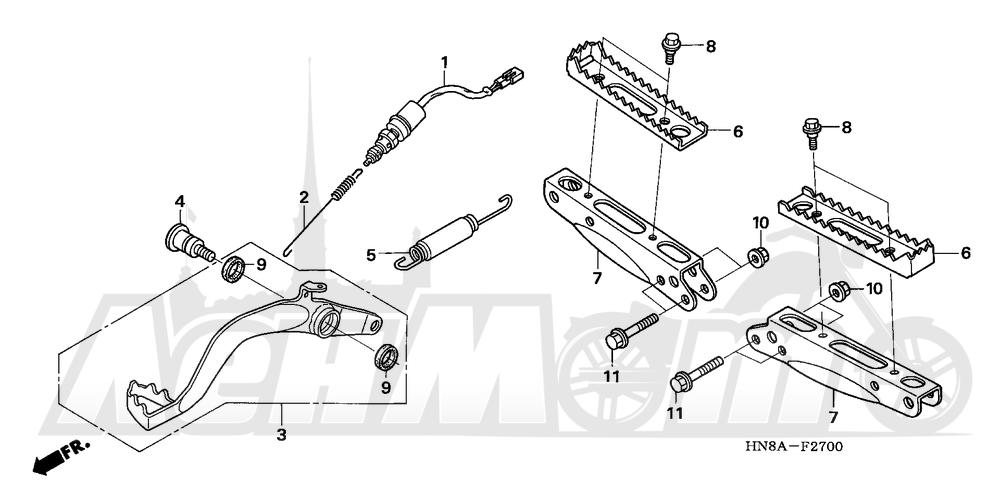 Запчасти для Квадроцикла Honda 2008 TRX680FGA Раздел: STEP AND PEDAL | подножка и педаль