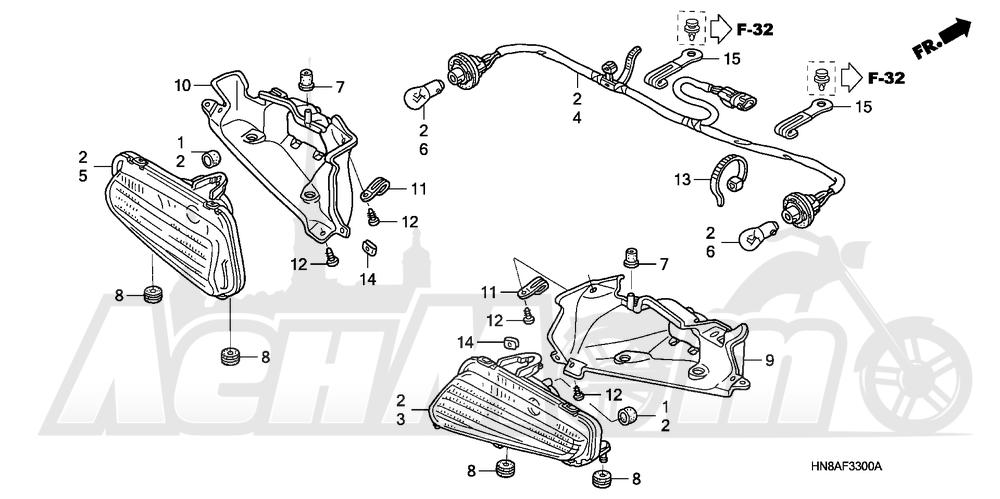 Запчасти для Квадроцикла Honda 2008 TRX680FGA Раздел: TAILLIGHT | задний фонарь