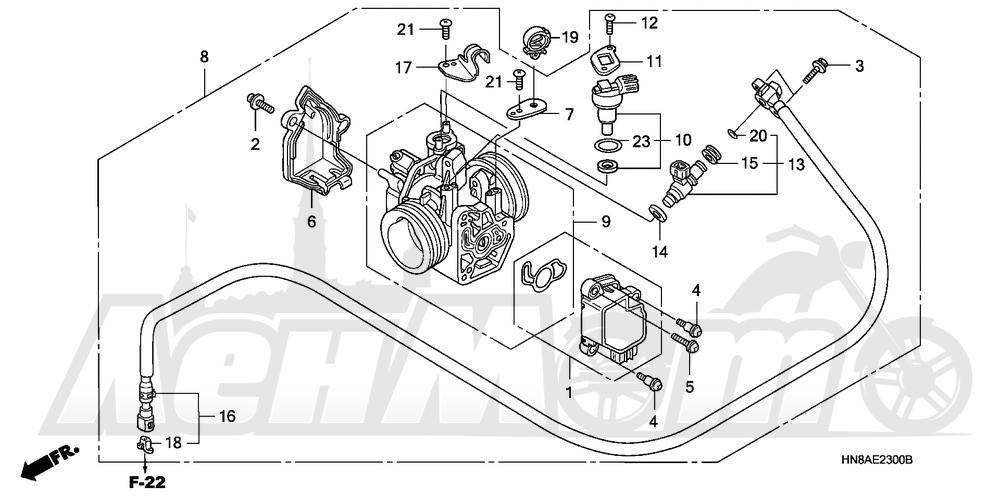 Запчасти для Квадроцикла Honda 2008 TRX680FGA Раздел: THROTTLE BODY   дроссельный узел