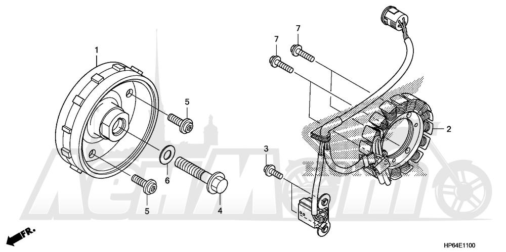 Запчасти для Квадроцикла Honda 2008 TRX700XX Раздел: ALTERNATOR | генератор