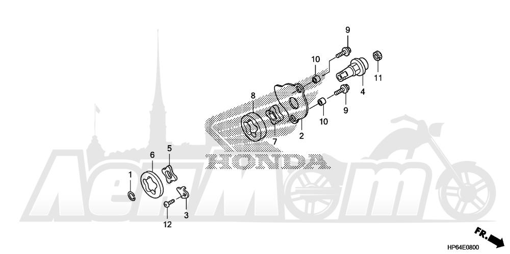 Запчасти для Квадроцикла Honda 2008 TRX700XX Раздел: OIL PUMP | маслянный насос