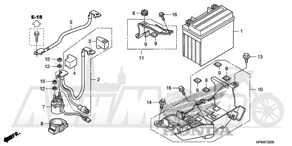 Запчасти для Квадроцикла Honda 2008 TRX700XX Раздел: BATTERY | аккумулятор