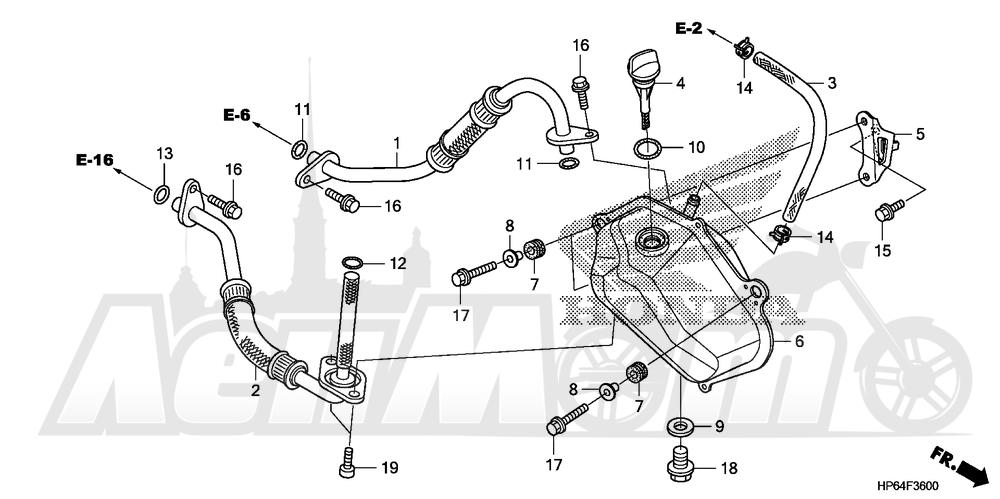 Запчасти для Квадроцикла Honda 2008 TRX700XX Раздел: OIL TANK   маслобак