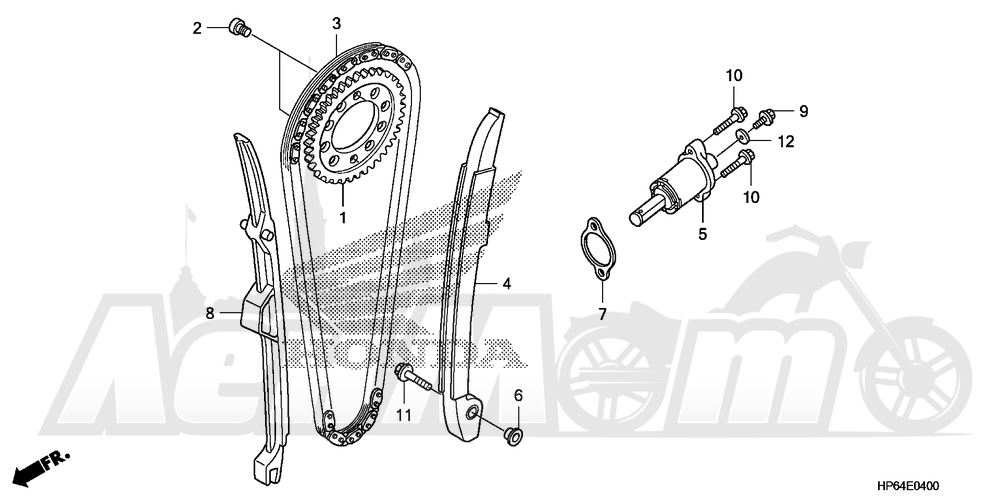 Запчасти для Квадроцикла Honda 2008 TRX700XX Раздел: CAM CHAIN AND TENSIONER | цепь грм и натяжитель