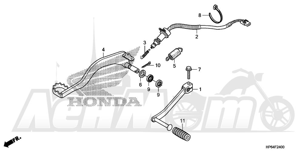 Запчасти для Квадроцикла Honda 2008 TRX700XX Раздел: PEDAL | педаль