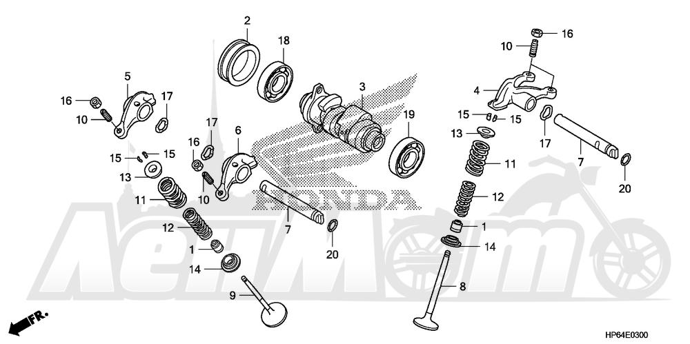 Запчасти для Квадроцикла Honda 2008 TRX700XX Раздел: CAMSHAFT AND VALVE | распредвал и клапан