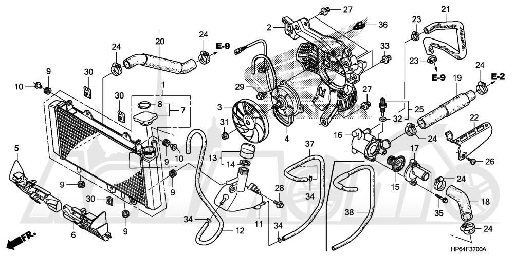 Запчасти для Квадроцикла Honda 2008 TRX700XX Раздел: RADIATOR | радиатор