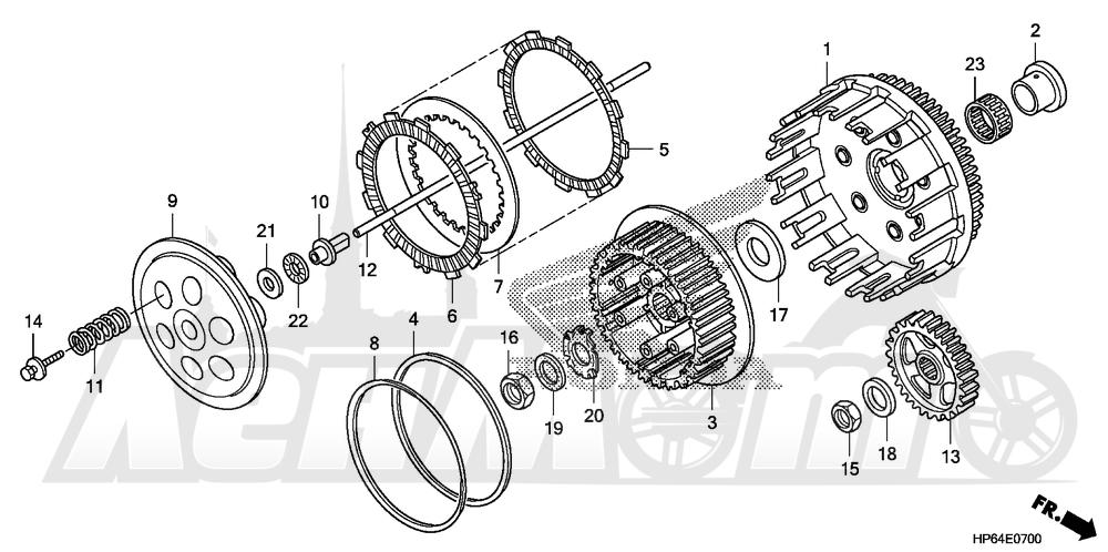 Запчасти для Квадроцикла Honda 2008 TRX700XX Раздел: CLUTCH | сцепление