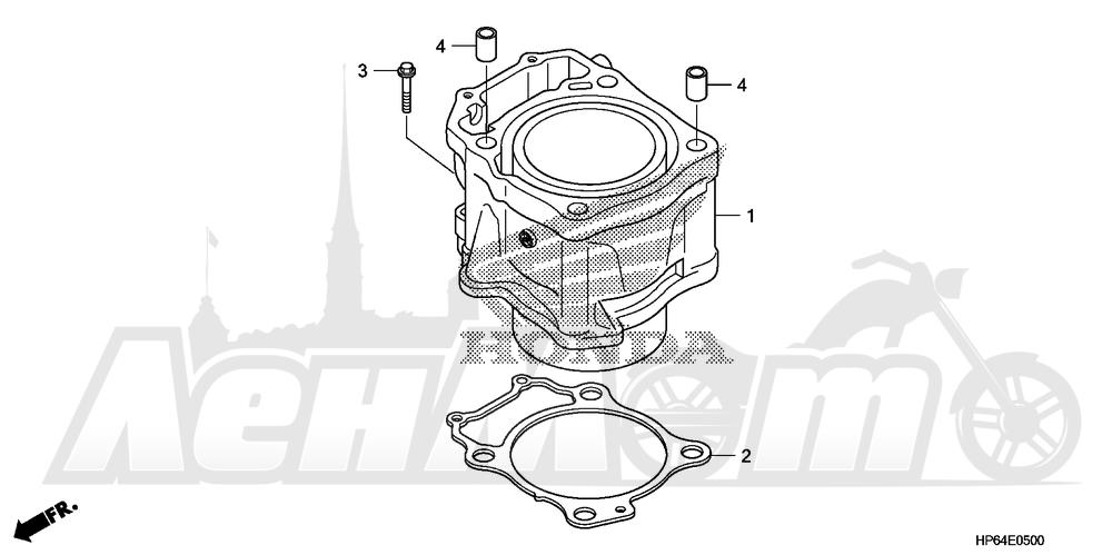 Запчасти для Квадроцикла Honda 2008 TRX700XX Раздел: CYLINDER | цилиндр