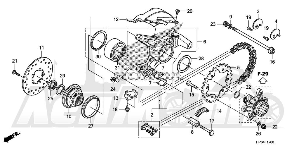 Запчасти для Квадроцикла Honda 2008 TRX700XX Раздел: DRIVE CHAIN | привод цепь