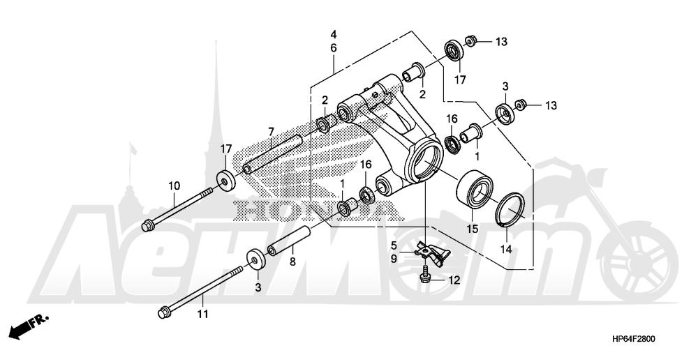 Запчасти для Квадроцикла Honda 2008 TRX700XX Раздел: REAR KNUCKLE | зад кулак