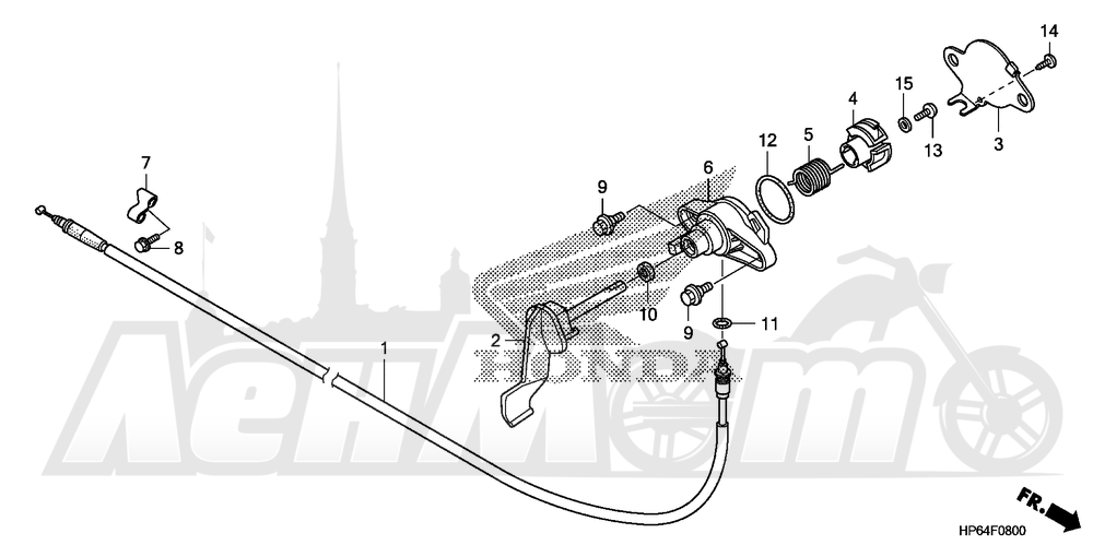 Запчасти для Квадроцикла Honda 2008 TRX700XX Раздел: REVERSE LEVER AND REVERSE CABLE | задний ход рычаг и задний ход трос, кабель