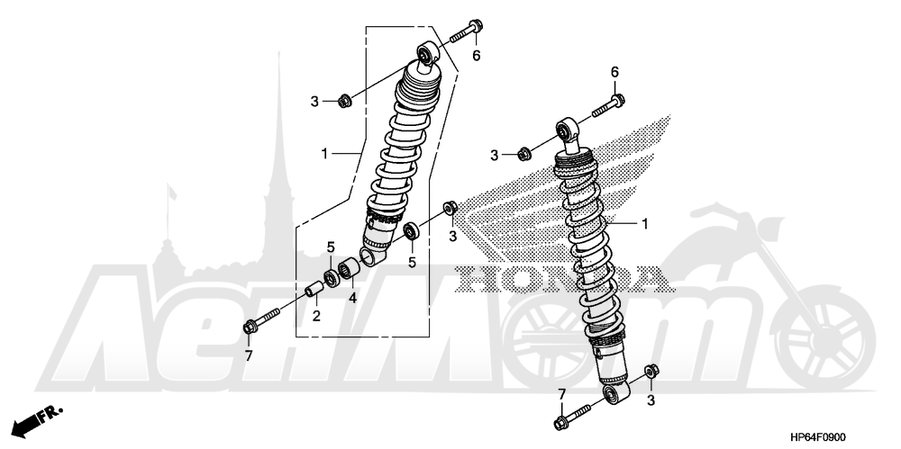 Запчасти для Квадроцикла Honda 2008 TRX700XX Раздел: FRONT CUSHION | перед подкладка