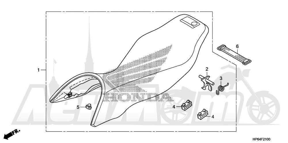 Запчасти для Квадроцикла Honda 2008 TRX700XX Раздел: SEAT | сиденье