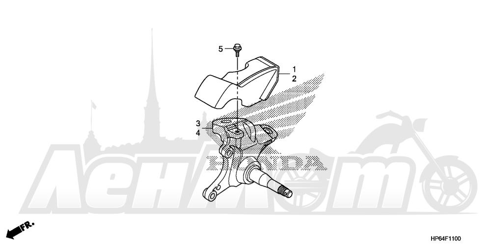 Запчасти для Квадроцикла Honda 2008 TRX700XX Раздел: FRONT KNUCKLE | перед кулак