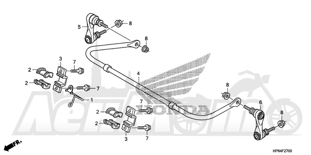 Запчасти для Квадроцикла Honda 2008 TRX700XX Раздел: STABILIZER | стабилизатор