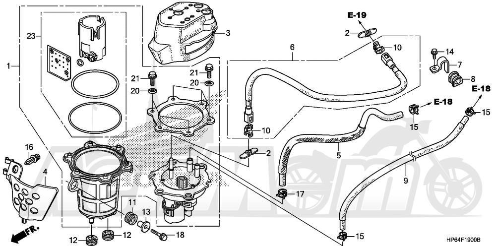 Запчасти для Квадроцикла Honda 2008 TRX700XX Раздел: FUEL PUMP | топливный насос