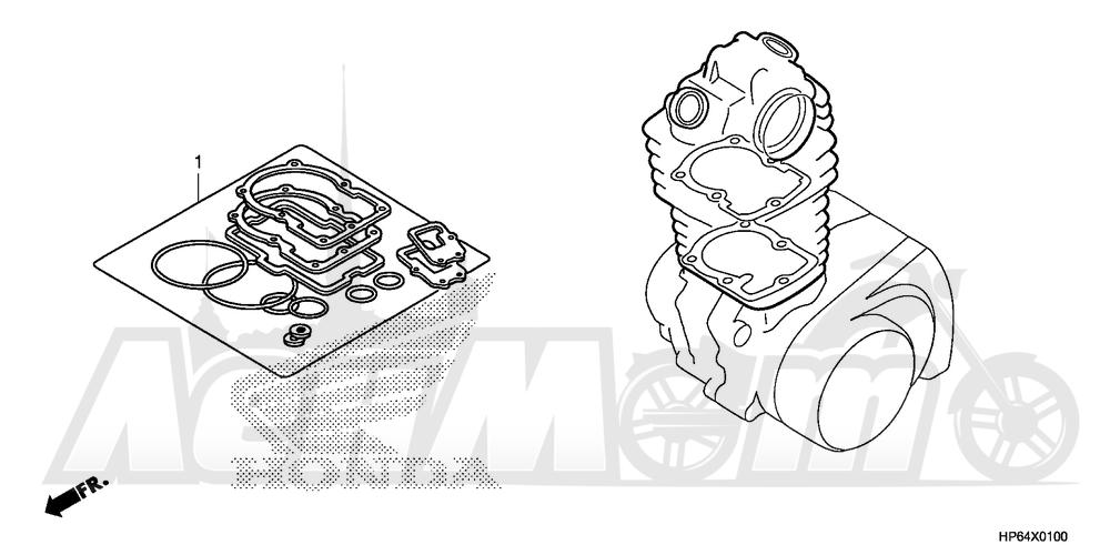 Запчасти для Квадроцикла Honda 2008 TRX700XX Раздел: GASKET KIT A | комплект прокладок A