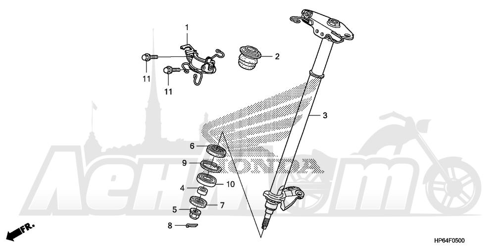 Запчасти для Квадроцикла Honda 2008 TRX700XX Раздел: STEERING SHAFT | рулевой вал