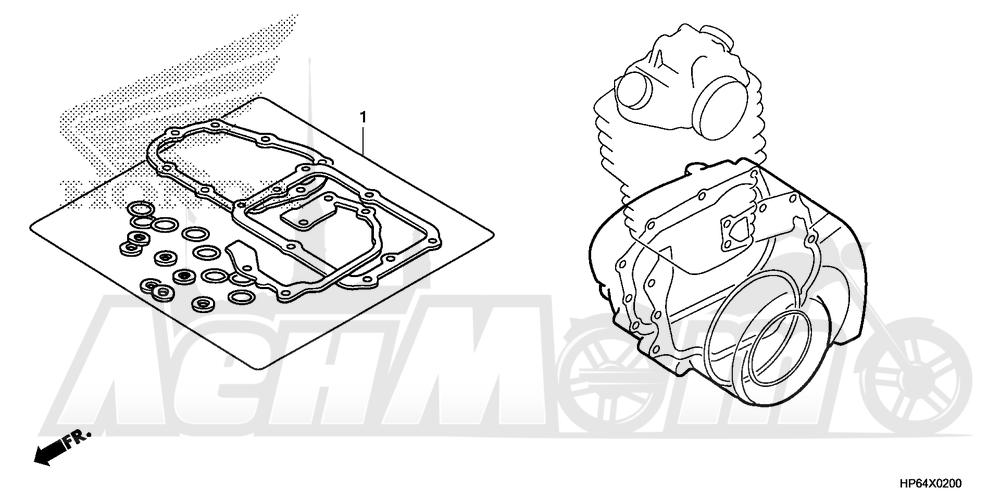 Запчасти для Квадроцикла Honda 2008 TRX700XX Раздел: GASKET KIT B | комплект прокладок B