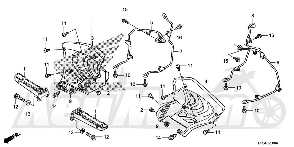 Запчасти для Квадроцикла Honda 2008 TRX700XX Раздел: STEP | подножка