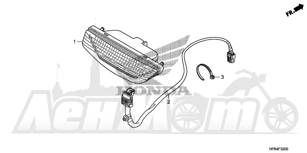 Запчасти для Квадроцикла Honda 2008 TRX700XX Раздел: TAILLIGHT | задний фонарь