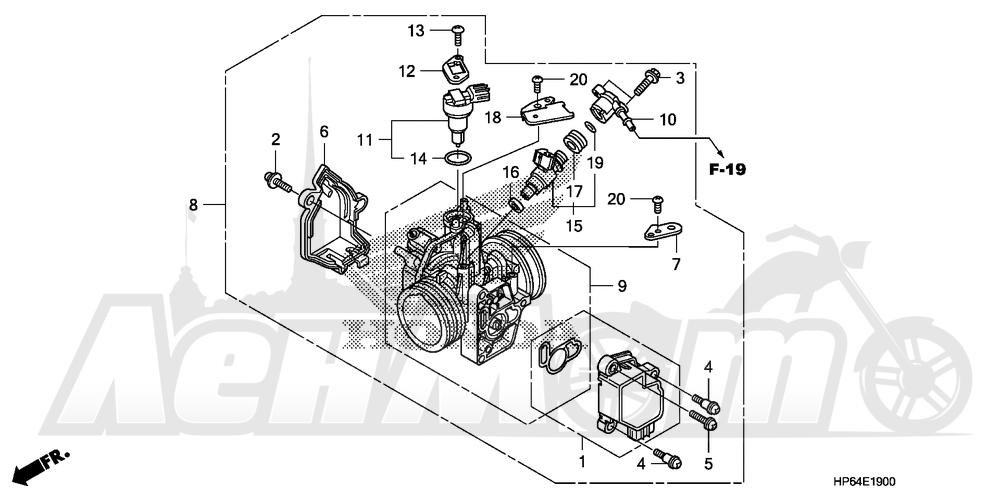 Запчасти для Квадроцикла Honda 2008 TRX700XX Раздел: THROTTLE BODY | дроссельный узел