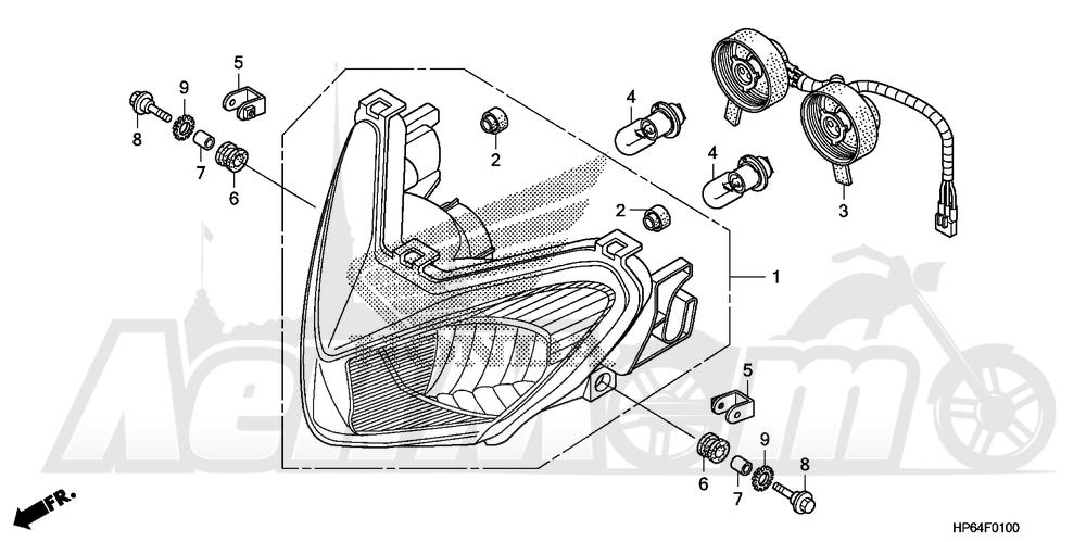 Запчасти для Квадроцикла Honda 2008 TRX700XX Раздел: HEADLIGHT | передняя фара