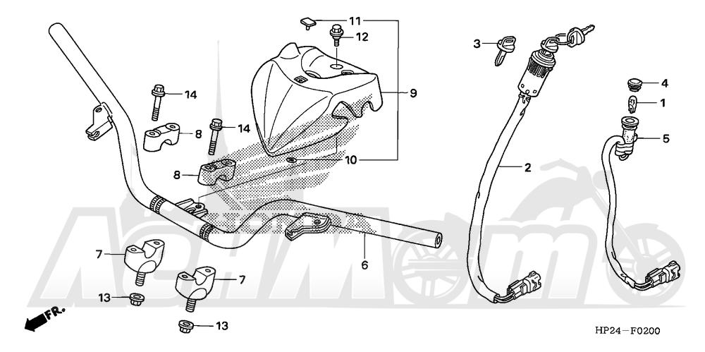 Запчасти для Квадроцикла Honda 2008 TRX90EX Раздел: HANDLEBAR | руль