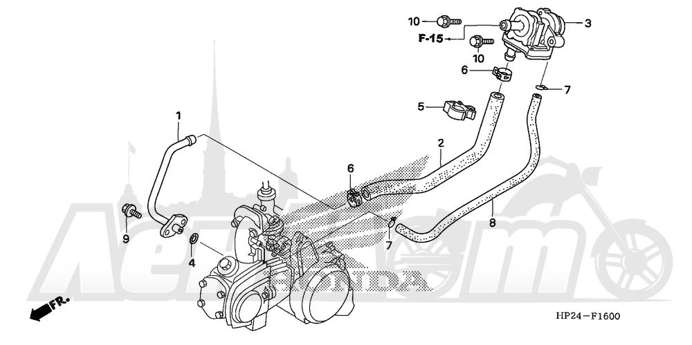 Запчасти для Квадроцикла Honda 2008 TRX90EX Раздел: AIR SUCTION VALVE | воздух SUCTION клапан