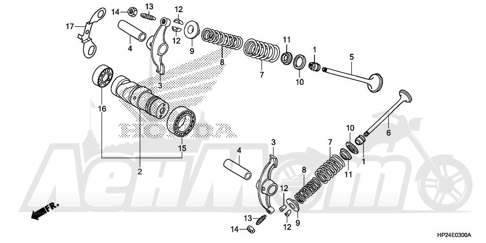 Запчасти для Квадроцикла Honda 2008 TRX90EX Раздел: CAMSHAFT AND VALVE   распредвал и клапан