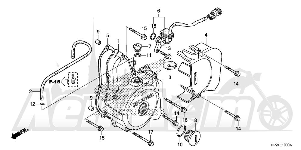 Запчасти для Квадроцикла Honda 2008 TRX90EX Раздел: LEFT CRANKCASE COVER | левая сторона крышка картера