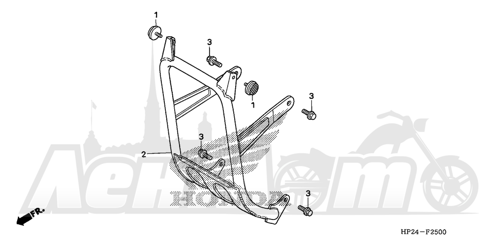 Запчасти для Квадроцикла Honda 2008 TRX90EX Раздел: CARRY PIPE   CARRY труба